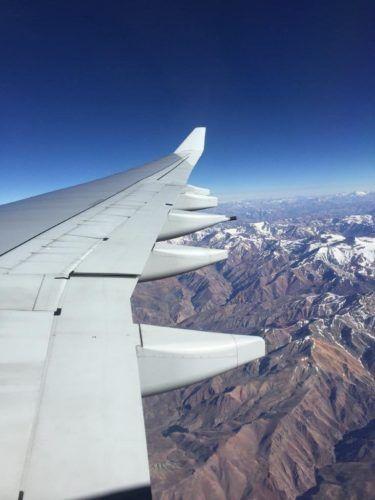 Flug nach Santiago