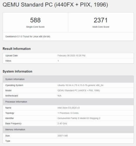 Contabo VPS 1400 Geekbench 5