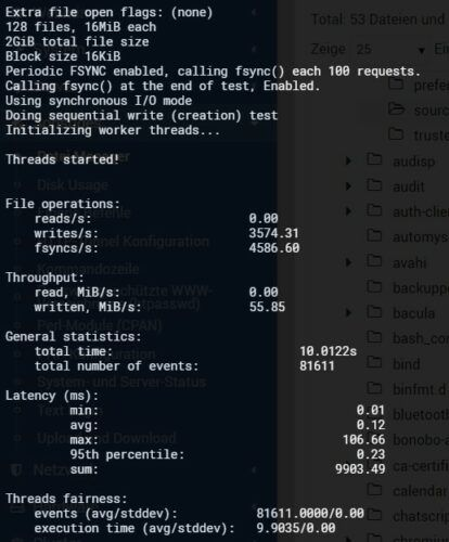 Contabo VPS L Sysbench IO Sequential Write