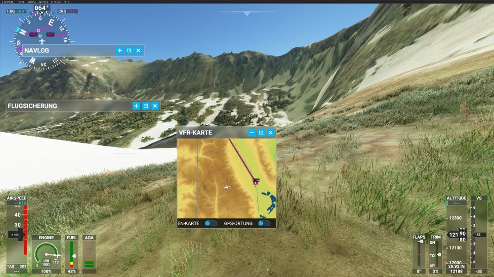 Flight Simulator 2020 - Mount Whitney Bereich