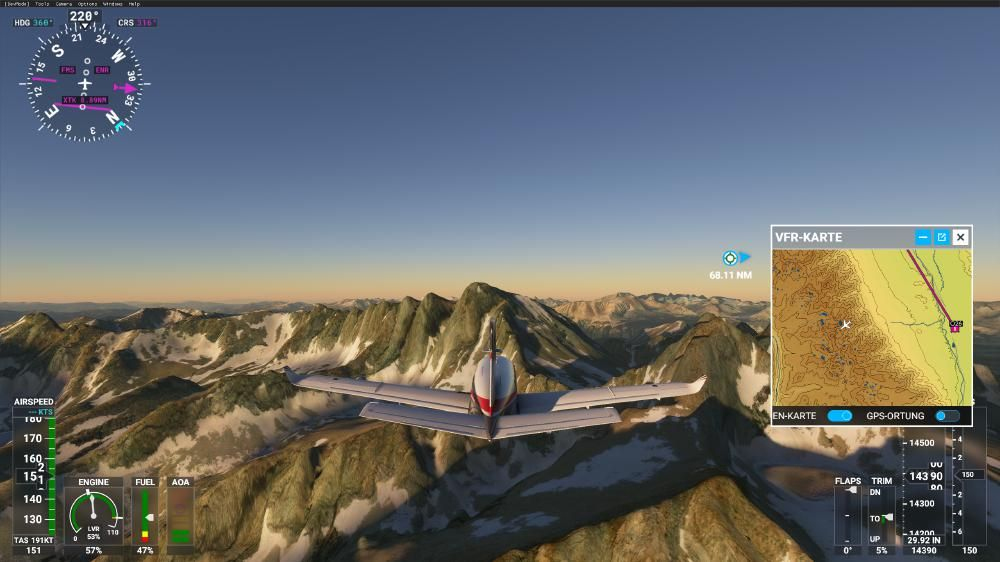 Flight Simulator 2020 - Mount Whitney
