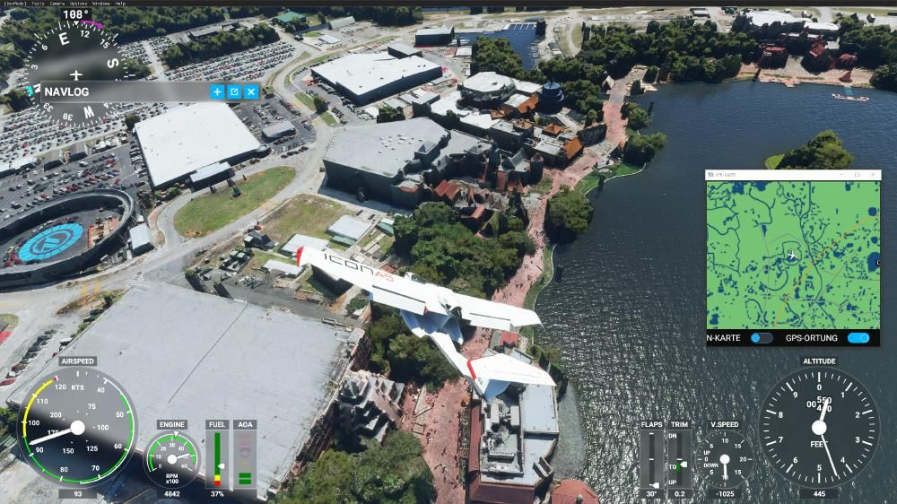 Flight Simulator 2020 - Epcot Testtrack und ein Teil vom World Showcase