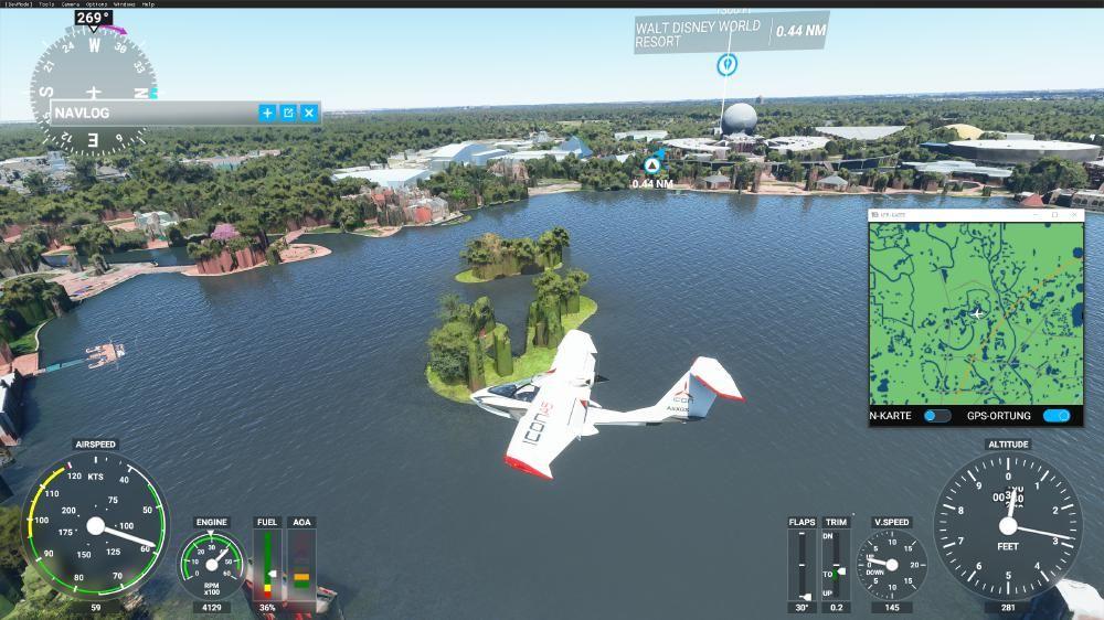 Flight Simulator 2020 - Epcot Wold Showcase - Komische Bäume, oder?