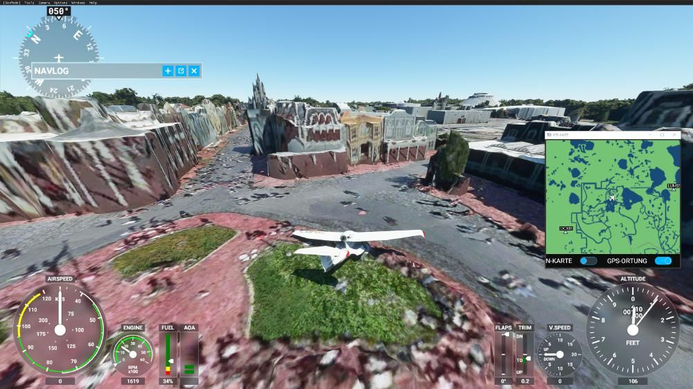 Flight Simulator 2020 - Magic Kingdom Main Street. Da schüttelt es einen, oder?