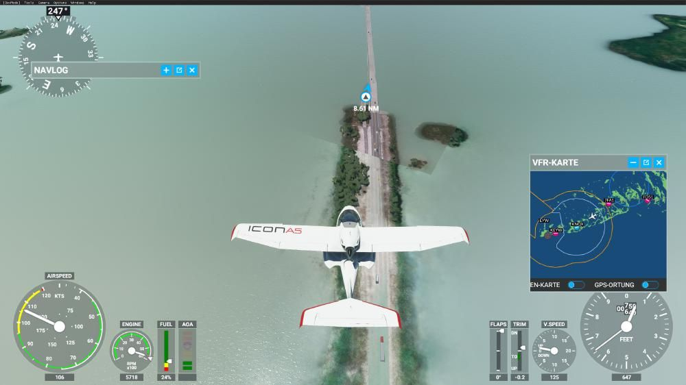 Flight Simulator 2020 - Florida Keys Generiert vs. Satellit