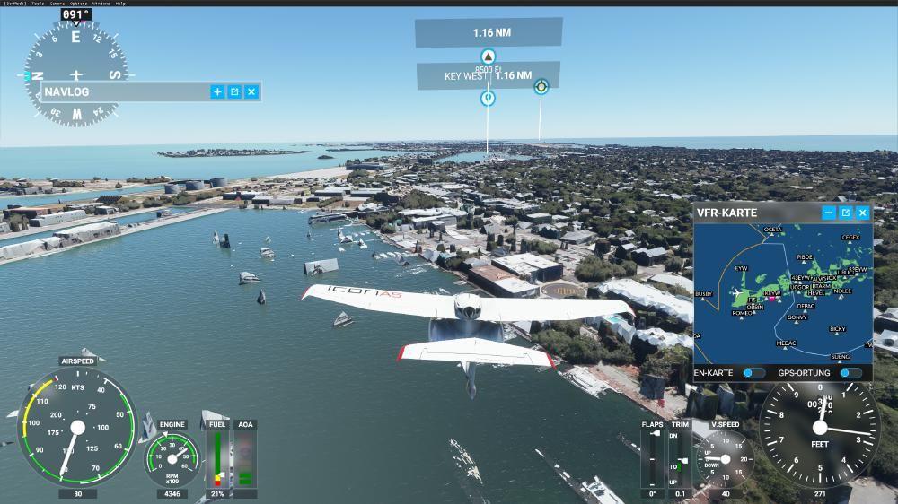 Flight Simulator 2020 - Key West Versunkene Schiffe und Gebäude