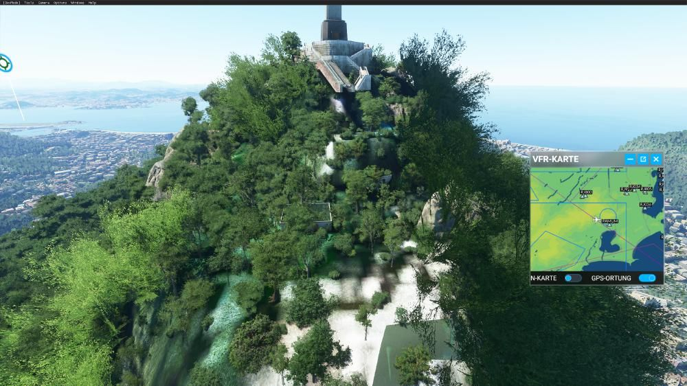 Flight Simulator 2020 - Christo Statue von hinten - totaler fail - von vorne sieht sie übrigens top aus!