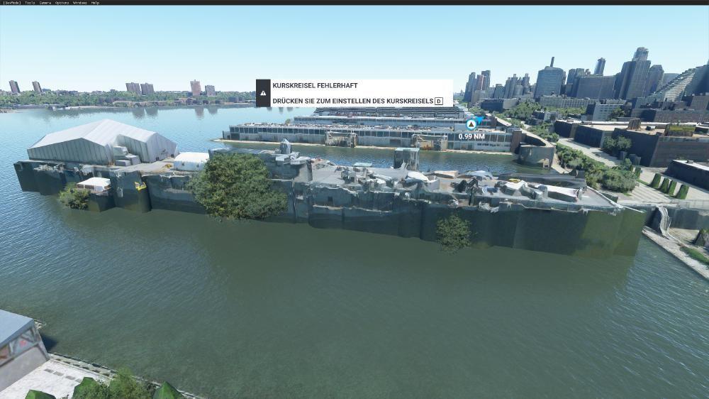 Flight Simulator 2020 - New York das soll der Flugzeugträger sein. Ok, muss man wissen - flop