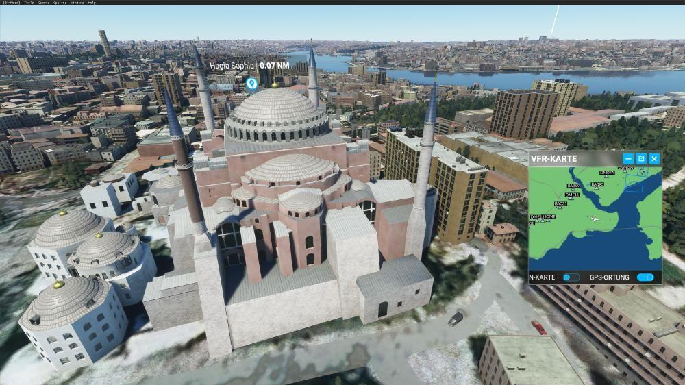 Flight Simulator 2020 - Istanbul Hagia Sophia - top