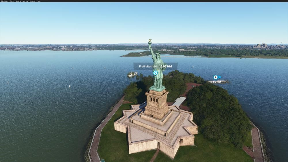 Flight Simulator 2020 - New York die Freiheitsstatue top