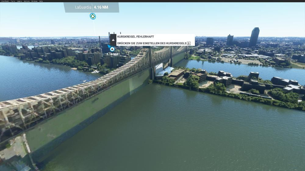 Flight Simulator 2020 - New York New York Queensboro Bridge das spottet jeder Beschreibung fail